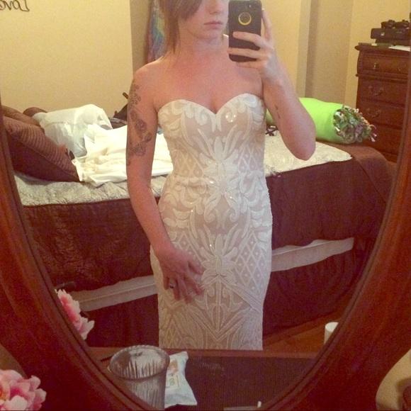 d6138dab97a8 Lulu's Dresses & Skirts - Lulus Olivia white sequin strapless maxi dress